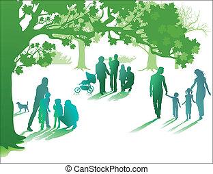 familia , gozar, vida, juntos