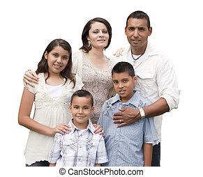 familia , hispano, atractivo, retrato, blanco, feliz