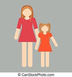 familia , icono, imagen