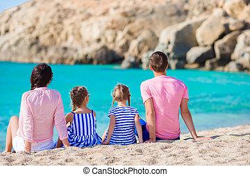 familia joven, el vacaciones