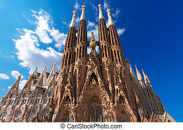 familia, la, de, -, バルセロナ, expiatori, sagrada, 寺院, スペイン