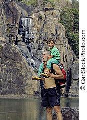 familia , naturaleza, pongour, padre, hijo, vacaciones,...