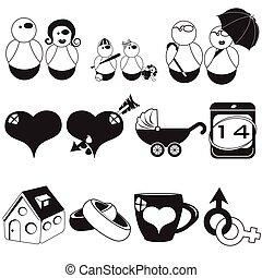 familia negra, iconos