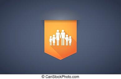 familia,  Pictogram, largo, grande, sombra, cinta, icono