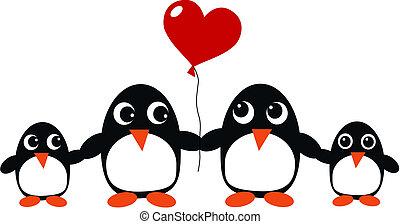 familia , pingüino