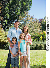 familia , posición, en el campo