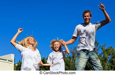 familia , saltar aire