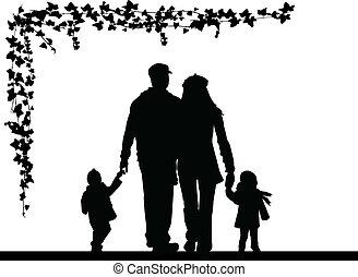 familia , silueta