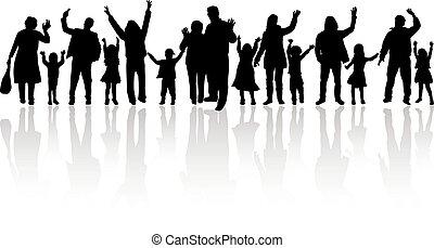 familia , siluetas