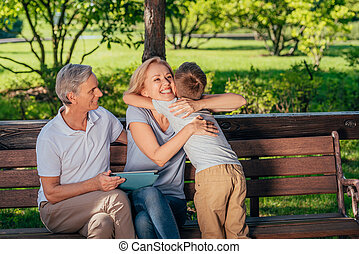 familia , tableta, digital