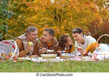 familia , tener un picnic