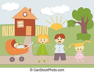 familia , y, casa