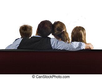 familia , y, pantalla