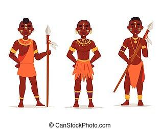 familias, illustration., gente, tradicional, persona,...