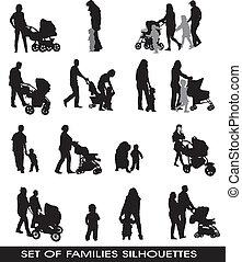 familias, padres, niños