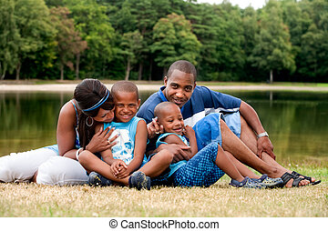 familie, afrikanisch