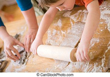 familie, bagning
