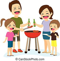 familie barbecue