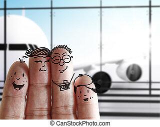 familie, finger