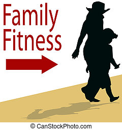 familie, fitness