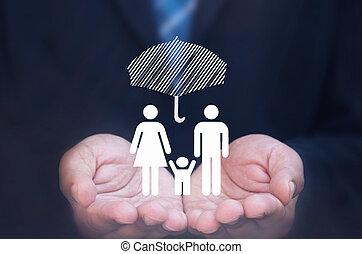 familie, forsikring