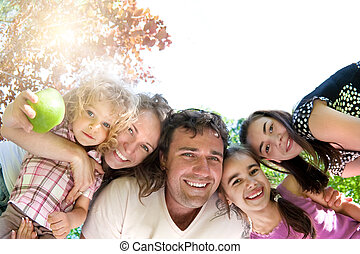 familie, glücklich