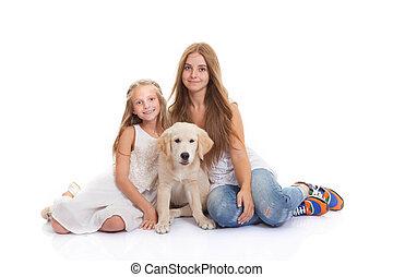 familie haustier, junger hund