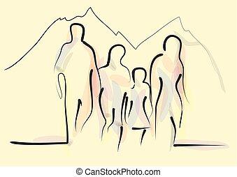 familie hiking