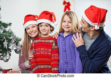 familie, hjem hos, during, jul