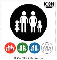 familie, ikone