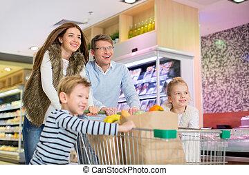 familie, in, kaufmannsladen