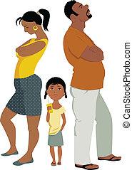 familie, konflikt, affects, kinder