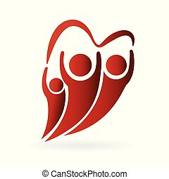 familie liebe, logo