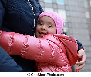 familie momente, kind, -, mutter, glücklich