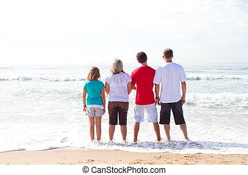 familie op strand