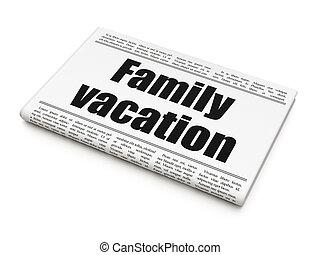 familie, overskrift, ferie, avis, turisme, concept: