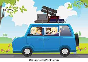 familie, reise