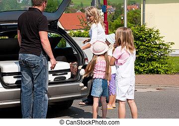 familie, reisen auto
