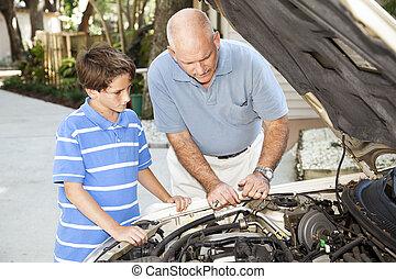 familie, reparer, projekt
