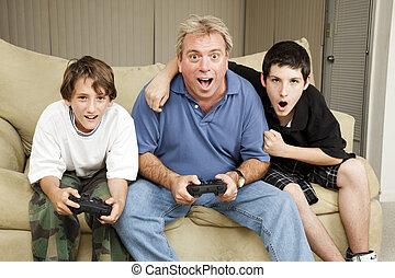 familie, spiel, nacht