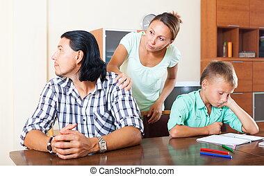 familie, streiten