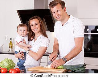 familie, tillave, maden