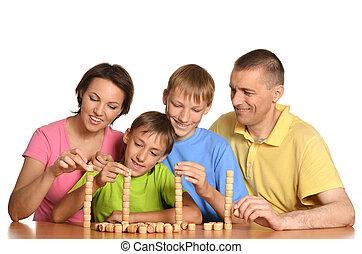familie van vier, mensen