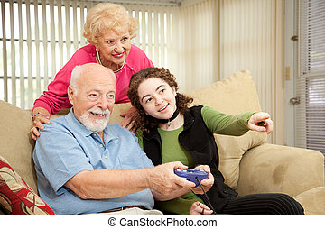 familie, videospiel