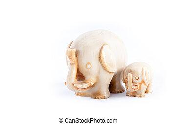 familie, von, elefanten