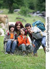 familie wandern, reise