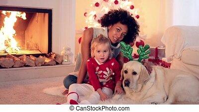 familie weihnachten, feier