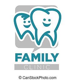 familie, zahnarzt, freigestellt, klinik, z�hne, dienstleistungen, ikone