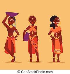 familien, illustration., leute, traditionelle , person,...