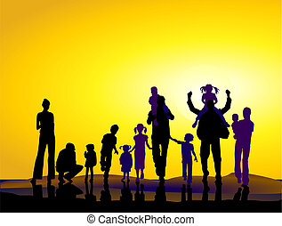families and sundown
